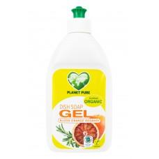 Био течност за миене на съдове Planet Pure - червен портокал и розмарин